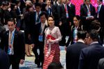 Suu Kyi in court 1st time since military coup