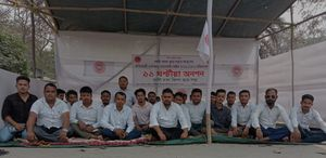 AASU stages hunger strike in Darrang demanding scrapping of CAA